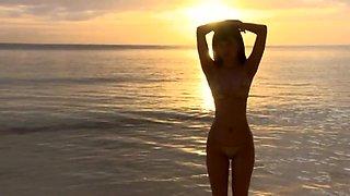 Oiled up gold bikini wet fetish (non-nude)