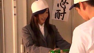 Crazy Japanese chick Mami Asakura in Incredible Cumshot, Facial JAV clip