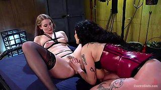 arabelle raphael exploits ela's ass and pussy