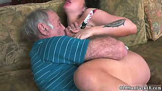Teen fucks sugar daddy and old man first time Frannkies a hasty learner