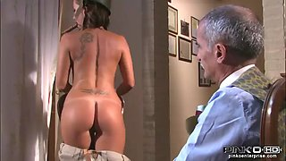 monica preziosi is fucked by a soldier on her kitchen table