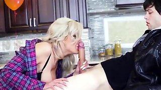 Hot Cougar Nina Elle Experiences Stepsons Big Cock