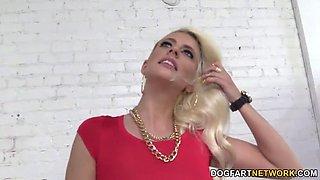 Jessie Volt Fucks A Random Black Cock