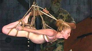Blonde gets destroyed in BDSM scene