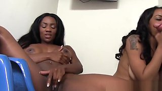 Persia Black and Lola Hart Share Gloryhole Cock