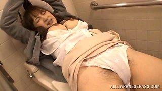 Sleepy Momo Ogura gets fucked deep in her hot pussy