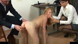 Hardcore job interview for a secretary