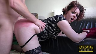 Chubby submissive brunette Mesmer Rose fucked and abused hardcore