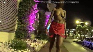 african public night walk striptease