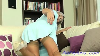 Ala nylons blue dress