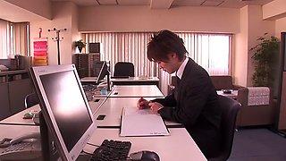 Horny Japanese whore Akiho Yoshizawa in Crazy couple, fingering JAV scene