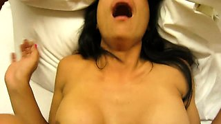 Busty Thai babe gets fucked hard and swallows a hot cumload