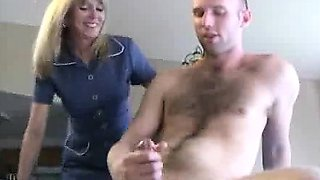Young Scotty is masturbating when Mrs. Sexton accidentally