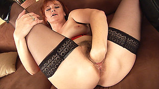 stepmom fist her hairy pussy