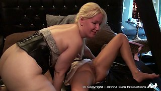 Busty mature ladies lick and toy each other