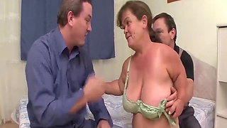 two midgets in a threesome fuck orgy