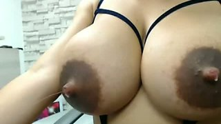 Hot Latina With Milk Squirting Out Of Her Tits