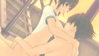 erotic anime girl sucking long penis segment
