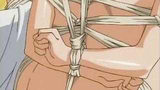 Double penetration for a hentai babe