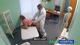 Married wife with fertility problem has fur pie examined and drilled by the doctor